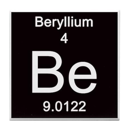 Periodic Table Beryllium Tile Coaster By ScienceLady