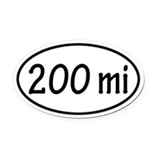 200 mi Oval Car Magnet