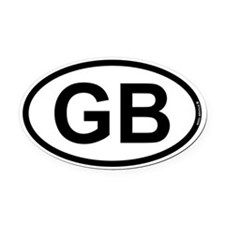 GB - Great Britian Oval Car Magnet