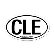 Cleveland, Ohio Oval Car Magnet