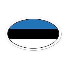 Estonian Flag Oval Car Magnet