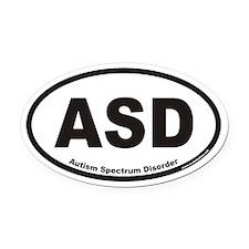 Autism Spectrum Disorder ASD Euro Oval Car Magnet