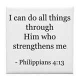 Phillipians 4:13 Tile Coaster
