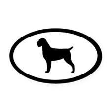 Wirehaired Pointing Griffon Oval Car Magnet
