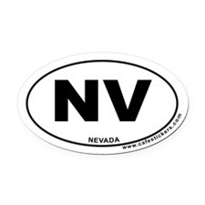 Nevada Oval Car Magnet