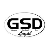 Text Profile GSD - Oval Car Magnet
