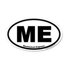 "Mechanical Engineer ""ME"" Oval Car Magnet"