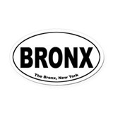 Bronx Oval Car Magnet