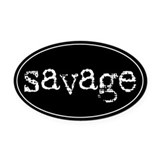 Savage Oval Car Magnet (Black)