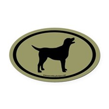 labrador retriever oval (blk/sage) Oval Car Magnet