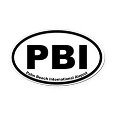 Palm Beach International Airport Oval Car Magnet