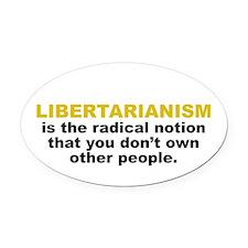 Libertarian Oval Car Magnet