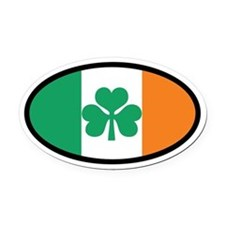 Irish Flag Oval Car Magnet (Euro)