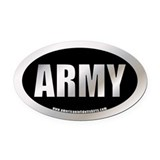 Metalic U.S. Army Oval Car Magnet