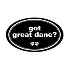 Got Great Dane? Oval Car Magnet