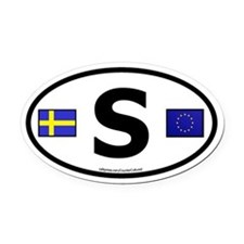 Unique Sweden Oval Car Magnet
