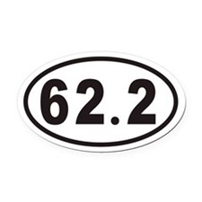 62.2 Euro Oval Car Magnet