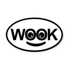 Oval Car Magnet Oval - Happy Wookie