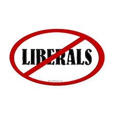 No Liberals Oval Car Magnet