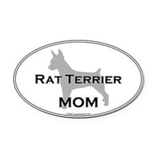 Rat Terrier MOM Oval Car Magnet
