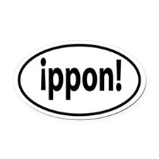 ippon decal Oval Car Magnet