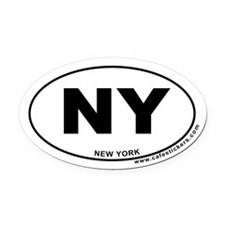 New York Oval Car Magnet