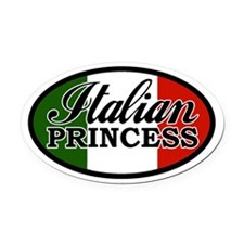 Italian Princess Oval Car Magnet