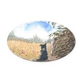 Meditation Oval Car Magnet