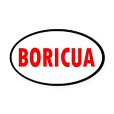 BORICUA... Oval Car Magnet
