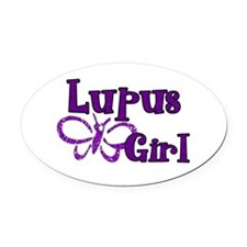 Lupus Girl Oval Car Magnet