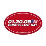 Bush's Last Day Oval Car Magnet