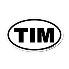 Tim Euro Oval Car Magnet