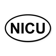 Oval Car Magnet Oval - NICU