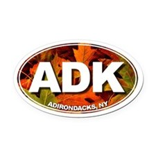 ADK (Fall Leaves) Oval Car Magnet