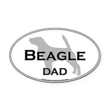 Beagle DAD Oval Car Magnet