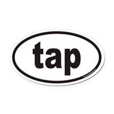 tap euro Oval Car Magnet