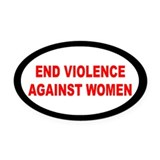 END VIOLENCE... Oval Car Magnet
