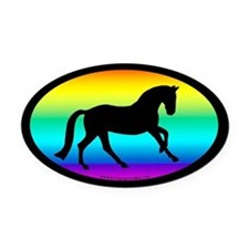 Canter Horse Oval (rainbow) Oval Car Magnet