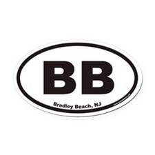 Bradley Beach BB Euro Oval Car Magnet