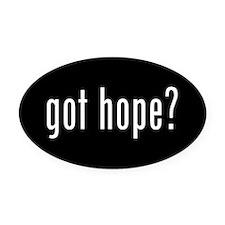Cute Hope Oval Car Magnet
