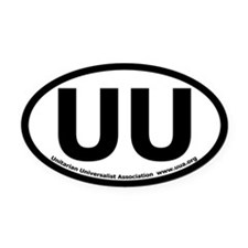 UU Bumper Oval Car Magnet with UUA text