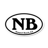 Newport Beach NB Euro Oval Oval Car Magnet