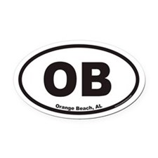Orange Beach OB Euro Oval Car Magnet