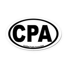 Certified Public Accountant (CPA) Oval Car Magnet