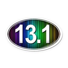 13.1 RAINBOW Marathon Oval Car Magnet