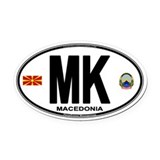 Macedonian Euro Oval Car Magnet (Oval)