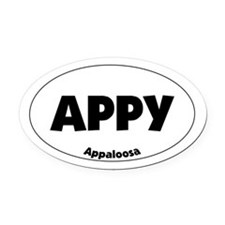 appaloosa - Oval Car Magnet