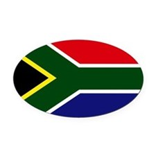 South African flag Oval Car Magnet