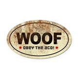 WOOF! Australian Cattle Dog Oval Car Magnet