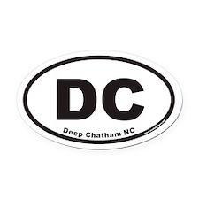 Deep Chatham North Carolina DC Euro Oval Car Magne